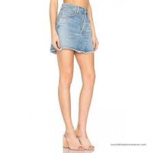 AGolde Quinn High Rise Denim Mini Skirt